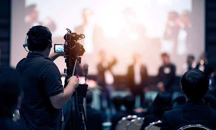 Conference and event video production crew in Prague