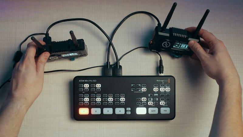 Atem mini pro with hollyland mars 400s pro multi camera live stream setup